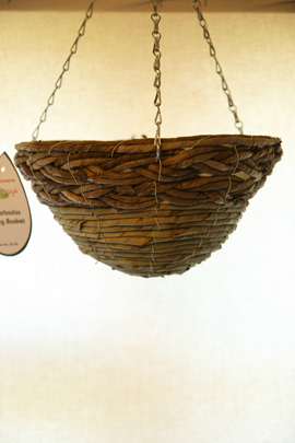 Moss+Green+%26+Earthy+Bamboo+Rope+12%22+Round+Bottom+Designer+Hanging+Basket+PAIR+OFFER%2E+Postage+FREE+