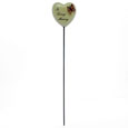6cm POLYRESIN HEART ON STICK - IN LOVING MEMORY