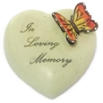 8cm POLYRESIN HEART - IN LOVING MEMORY