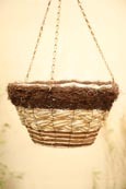 Flat Bottom Round Designer Hanging Basket. Perfect for any spot in your garden!