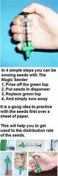 The Cornwall Magic Seeder - Seeding Device - Makes Seed Sowing Simple - Designed in the UK and Made in the UK.